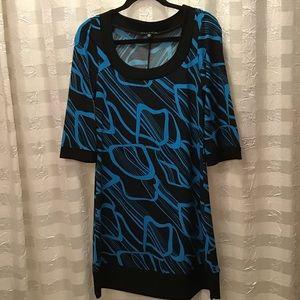 Tiana B. Knit 3/4 Sleeve Shift Dress, Size M USA